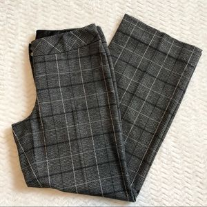 White House Black Market Pants - White House Black Market pants size 10 gray plaid